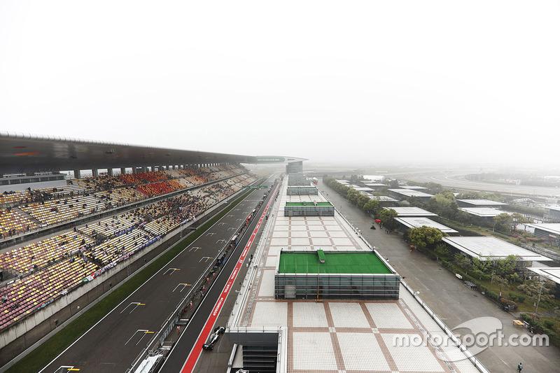 Una vista panorámica del circuito internacional de Shanghai at GP de ... 1cfdd3fc82ba8