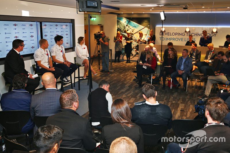 Valtteri Bottas, Lance Stroll, Claire Williams, Williams Team
