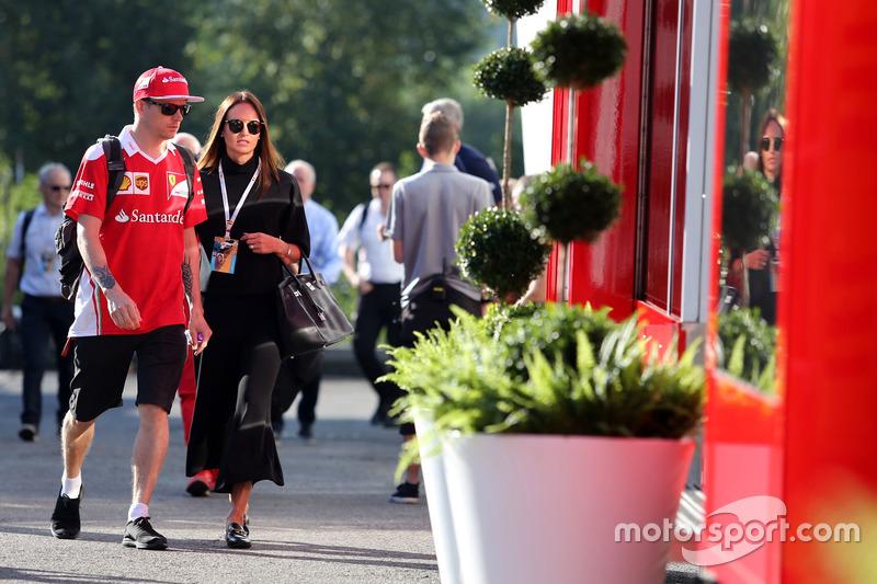 Kimi Räikkönen, Scuderia Ferrari und seine Frau Minttu