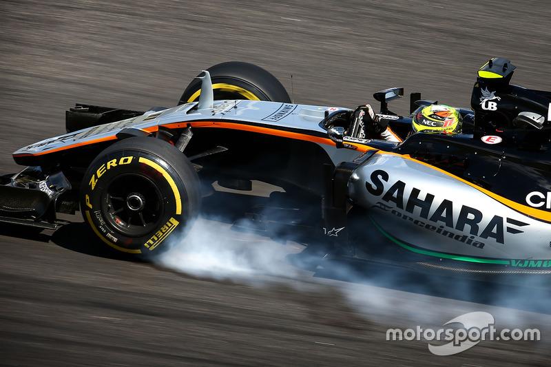 Verbremser: Sergio Perez, Sahara Force India F1 VJM09