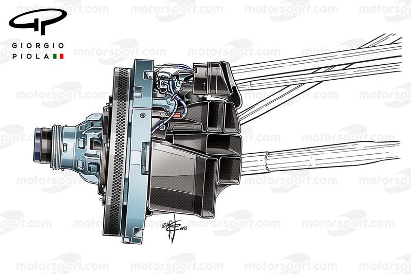 Force India VJM09, angeblasene Achse