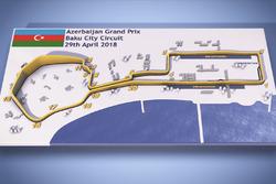 Azerbaijan GP circuit map