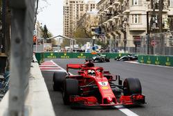 Sebastian Vettel, Ferrari SF71H, Lewis Hamilton, Mercedes AMG F1 W09, and Valtteri Bottas, Mercedes AMG F1 W09