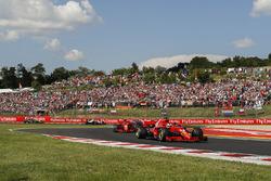 Sebastian Vettel, Ferrari SF71H and Kimi Raikkonen, Ferrari SF71H