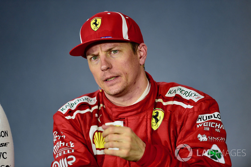 Kimi Raikkonen, Ferrari in the Press Conference