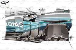 Bargeboard del Mercedes F1 W08 b