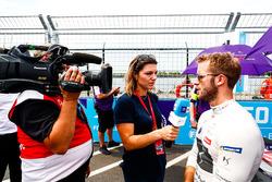 Sam Bird, DS Virgin Racing, talks to the press