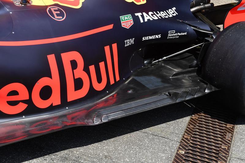 Red Bull Racing RB14 rear floor detail