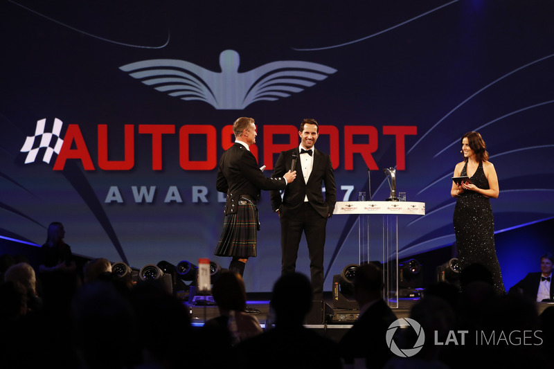 David Coulthard speaks to Ben Ainslie on stage