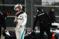Lewis Hamilton, Mercedes AMG F1, walks out of parc ferme after qualifying fourth