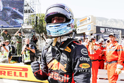 Daniel Ricciardo, Red Bull Racing, winks to the camera after setting pole position
