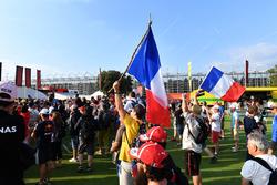 Fans at the Fan Zone