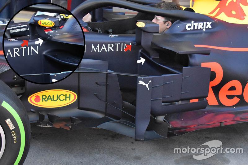 Rétroviseurs de la Red Bull Racing RB14