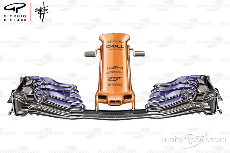 McLaren MCL33, alerón delantero GP de España