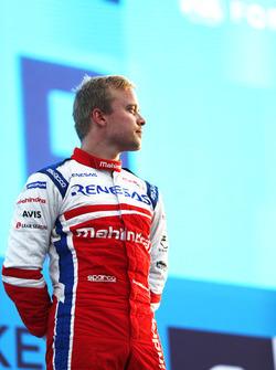 Felix Rosenqvist, Mahindra Racing, on the podium