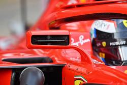 Kimi Raikkonen, Ferrari SF71H mirror detail