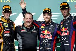 Podium: 1. Sebastian Vettel, Red Bull Racing; 2. Romain Grosjean, Lotus; 3.Mark Webber, Red Bull Racing