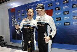 Podium: Race winner Nestor Girolami, Polestar Cyan Racing, Volvo S60 Polestar TC1, third place Thed Björk, Polestar Cyan Racing, Volvo S60 Polestar TC1