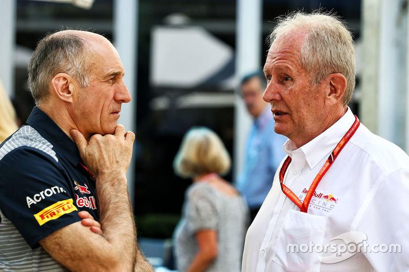 Franz Tost, Scuderia Toro Rosso, mit Helmut Marko, Red Bull