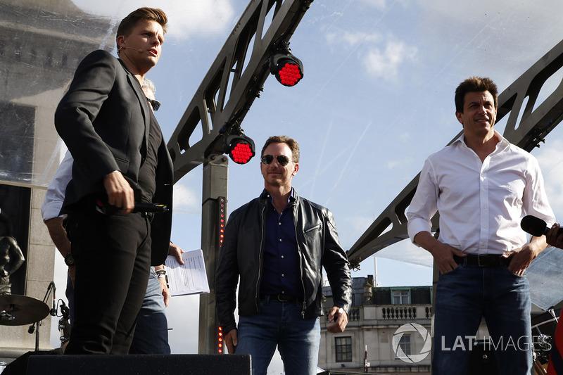Джек Хамфрі, керівник Red Bull Racing Крістіан Хорнер, керівник Mercedes AMG F1 Тото Вольфф