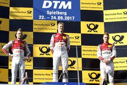 Podium: Race winner Mattias Ekström, Audi Sport Team Abt Sportsline, Audi A5 DTM. second place Jamie Green, Audi Sport Team Rosberg, Audi RS 5 DTM, third place Nico Müller, Audi Sport Team Abt Sportsline, Audi RS 5 DTM