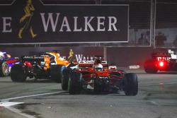 Crash: Sebastian Vettel, Ferrari SF70H