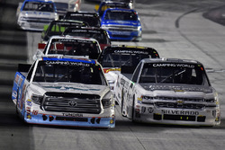 Ryan Truex, Hattori Racing Enterprises Toyota and Kaz Grala, GMS Racing Chevrolet