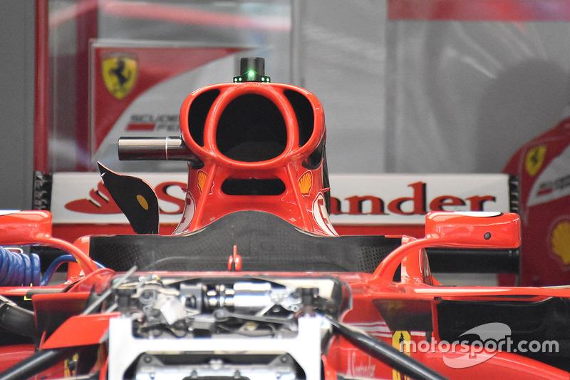 Vue détaillée de la prise d'air de la Ferrari