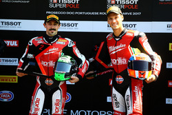 Second and third place after qualifying, Eugene Laverty, Milwaukee Aprilia, Lorenzo Savadori, Milwau