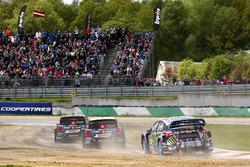 Petter Solberg, PSRX Volkswagen Sweden, VW Polo GTi; Johan Kristoffersson, Volkswagen Team Sweden, VW Polo GTi; Andreas Bakkerud, Hoonigan Racing Division, Ford