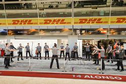 McLaren fitness regime in the pit lane