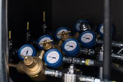 Luftdruckenanzeigen an Luftpumpen