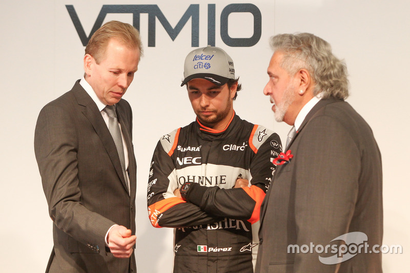 Andy Green, Sergio Perez und Vijay Mallya