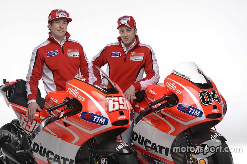 Nicky Hayden, Ducati Team et Andrea Dovizioso, Ducati Team