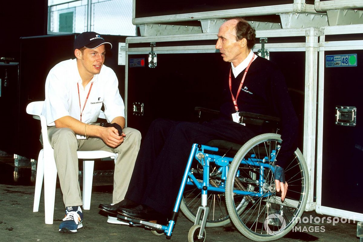 Jenson Button meets with Frank Williams