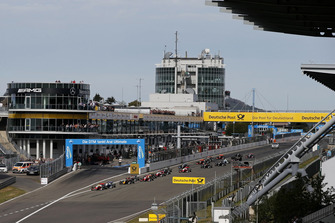 Start der Formel-3-EM 2018 auf dem Nürburgring: Mick Schumacher, PREMA Theodore Racing Dallara F317 - Mercedes-Benz, führt