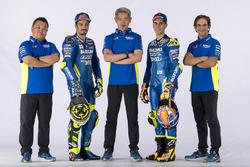 Andrea Iannone, Team Suzuki MotoGP, Alex Rins, Team Suzuki MotoGP with team members