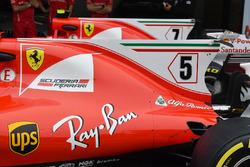 Ferrari SF70H engine cover fin detail