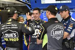 Jimmie Johnson, Hendrick Motorsports, Chevrolet Camaro Lowe's for Pros, Alex Bowman, Hendrick Motorsports, Chevrolet Camaro Axalta, Chad Knaus and Greg Ives