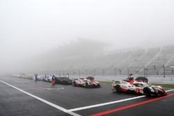 The cars are stopped due to fog
