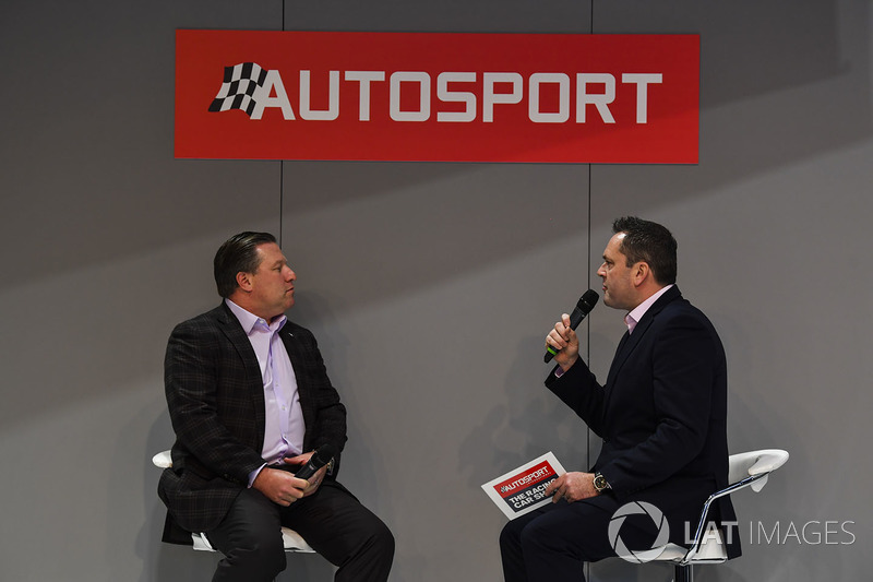 Zak Brown talks to Henry Hope-Frost on the Autosport Stage
