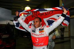 Lewis Hamilton, McLaren celebrates his World Championship in parc ferme