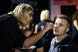 Sergey Sirotkin, Renault Sport F1 Team Test Driver in make up at Amber Lounge Fasion Show