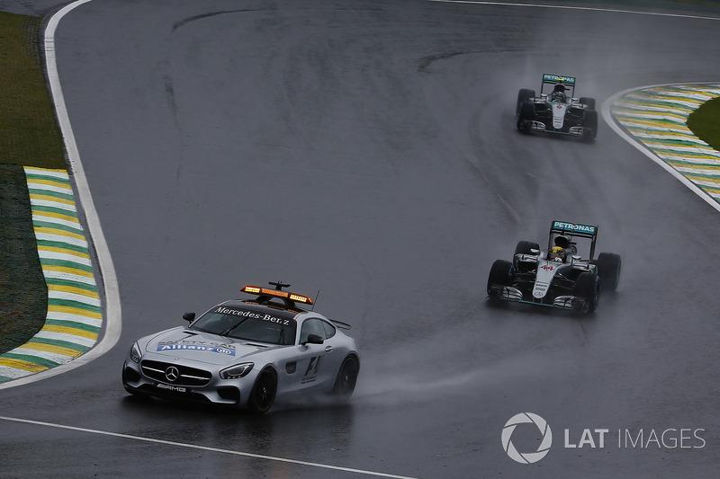 Автомобіль безпеки, Льюіс Хемілтон, Ніко Роберг, Mercedes F1 W07 Hybrid