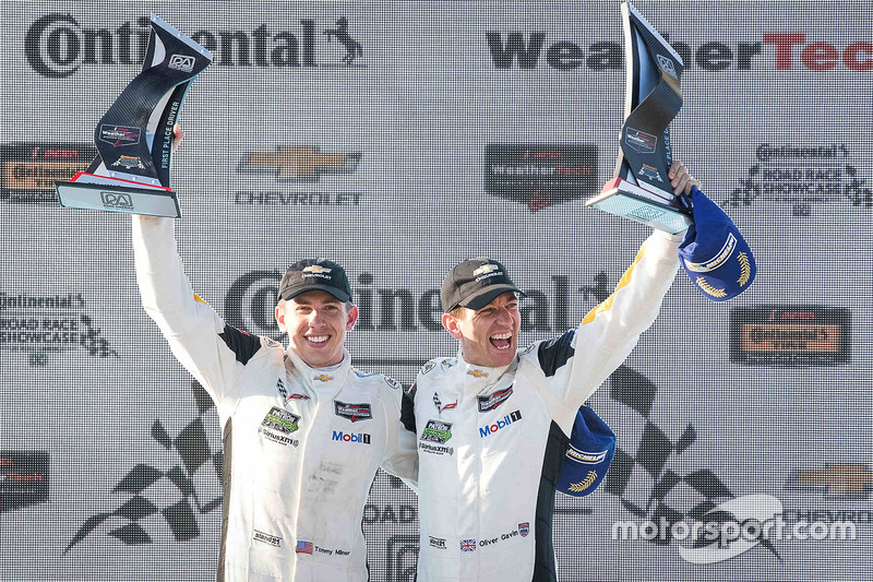 GTLM winners Tommy Milner, Oliver Gavin, Corvette Racing