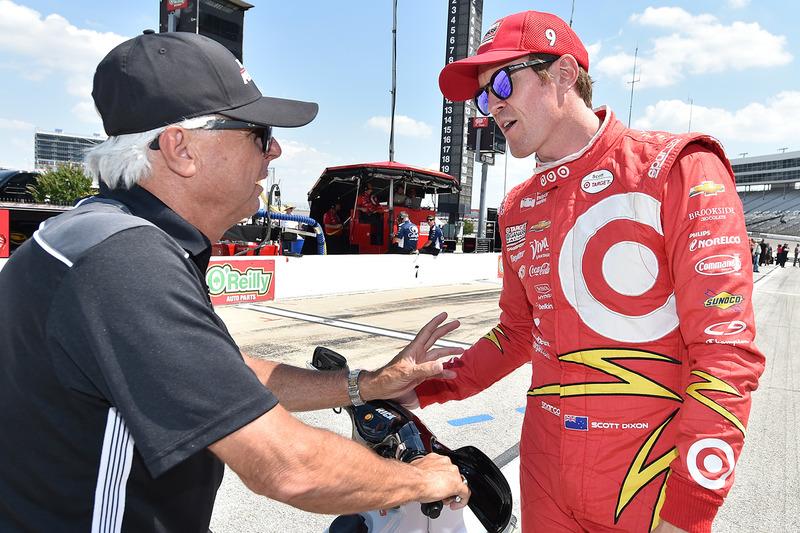 Scott Dixon, Chip Ganassi Racing Chevrolet with Rick Mears