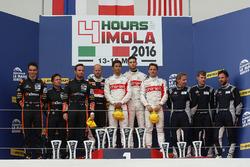 LMP2 podium: winners #46 Thiriet by TDS Racing Oreca 05 - Nissan: Pierre Thiriet, Mathias Beche, Ryo