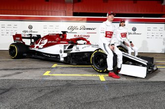 Kimi Raikkonen, Alfa Romeo Racing and Antonio Giovinazzi, Alfa Romeo Racing with the new Alfa Romeo Racing C38