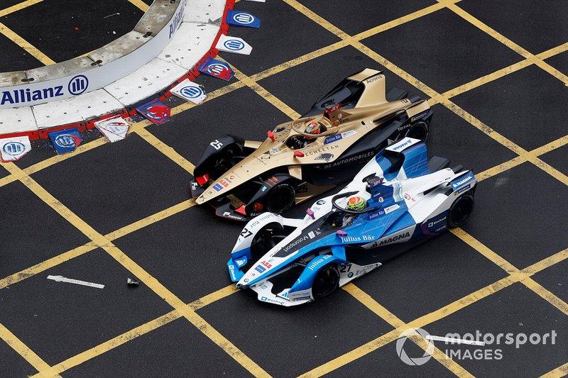 Jean-Eric Vergne, DS TECHEETAH, DS E-Tense FE19, lotta con Alexander Sims, BMW I Andretti Motorsports, BMW iFE.18