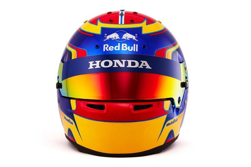 Helmet by Alex Albon, Scuderia Toro Rosso